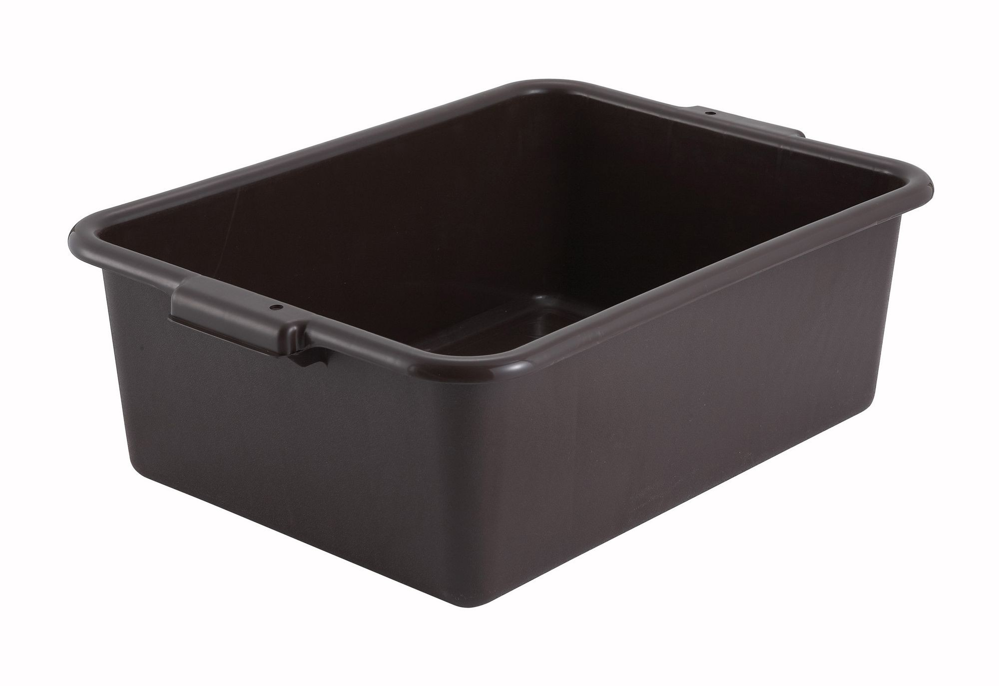 "Winco PL-7B Brown Dish Box 20-1/4"" x 15-1/2"" x 7"""
