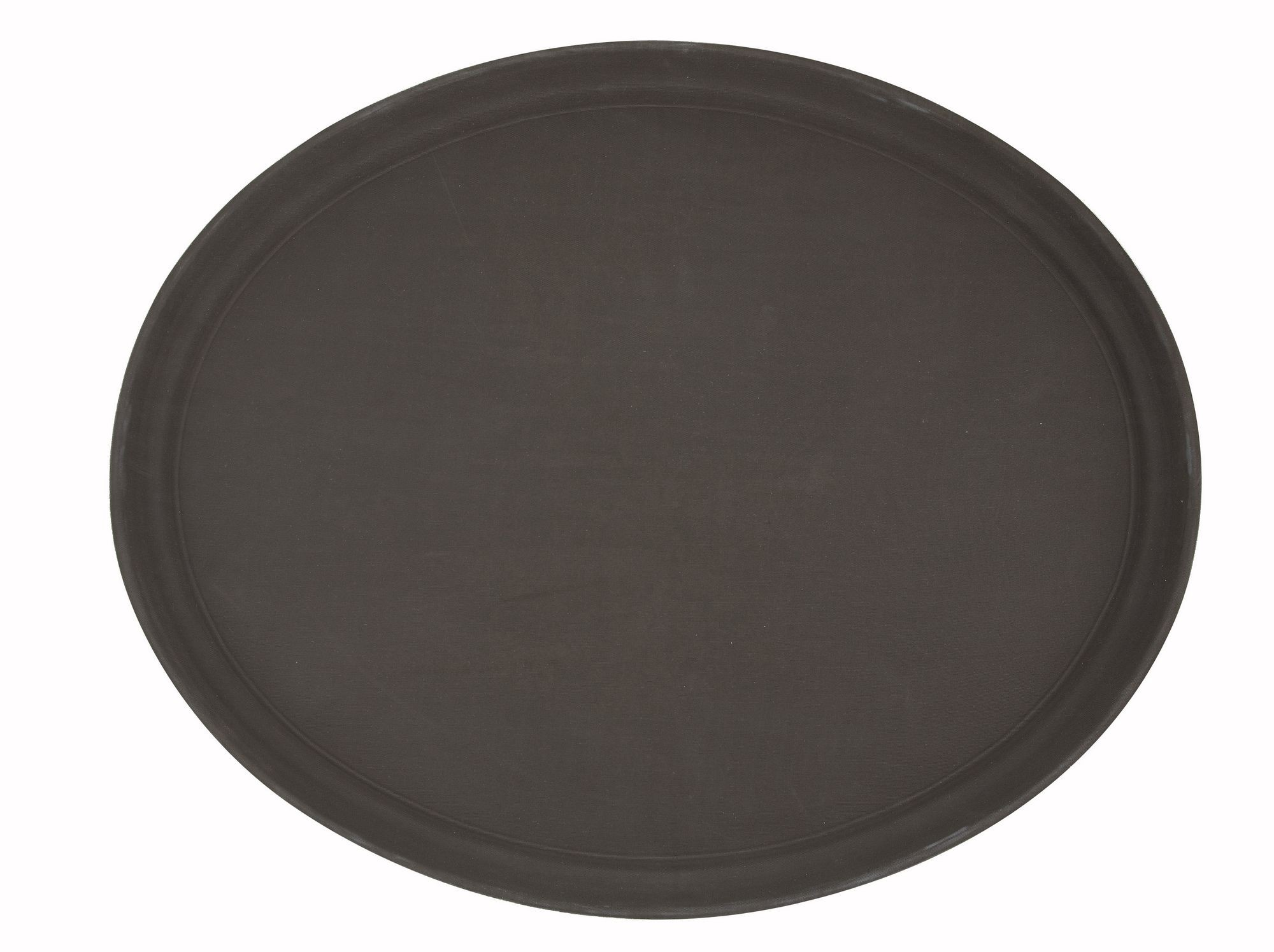 "Winco trh-2722 Brown Easy Hold Oval Tray 22"" x 27"""