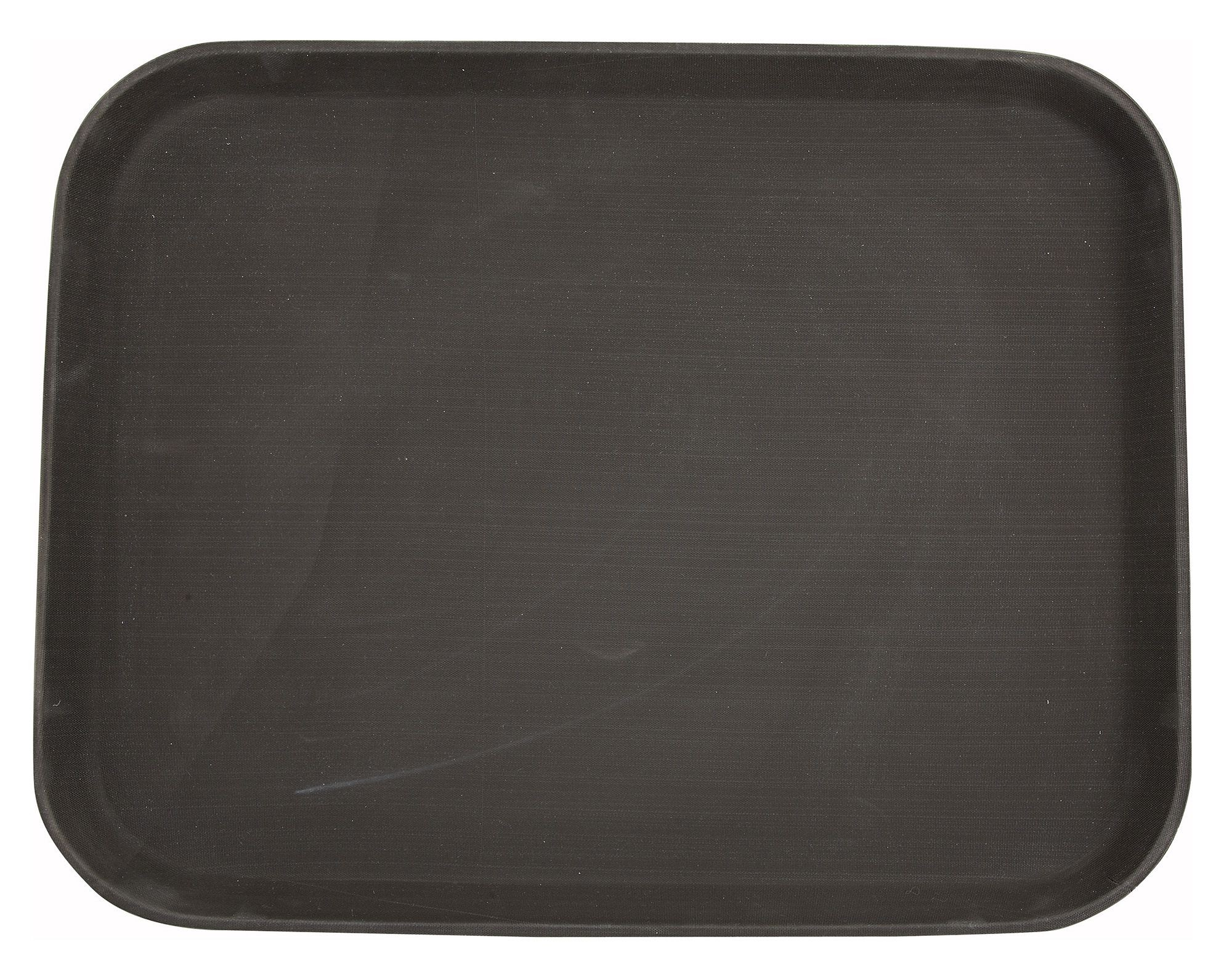 "Winco TRH-1418 Brown Easy Hold Rectangular Tray 14"" x 18"""