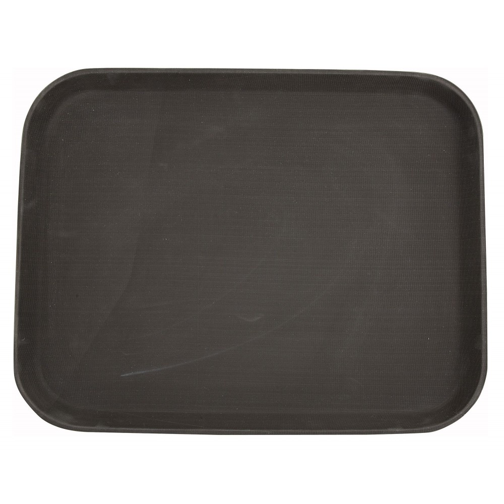 Brown Easy Hold Rectangular Tray - 14 X 18
