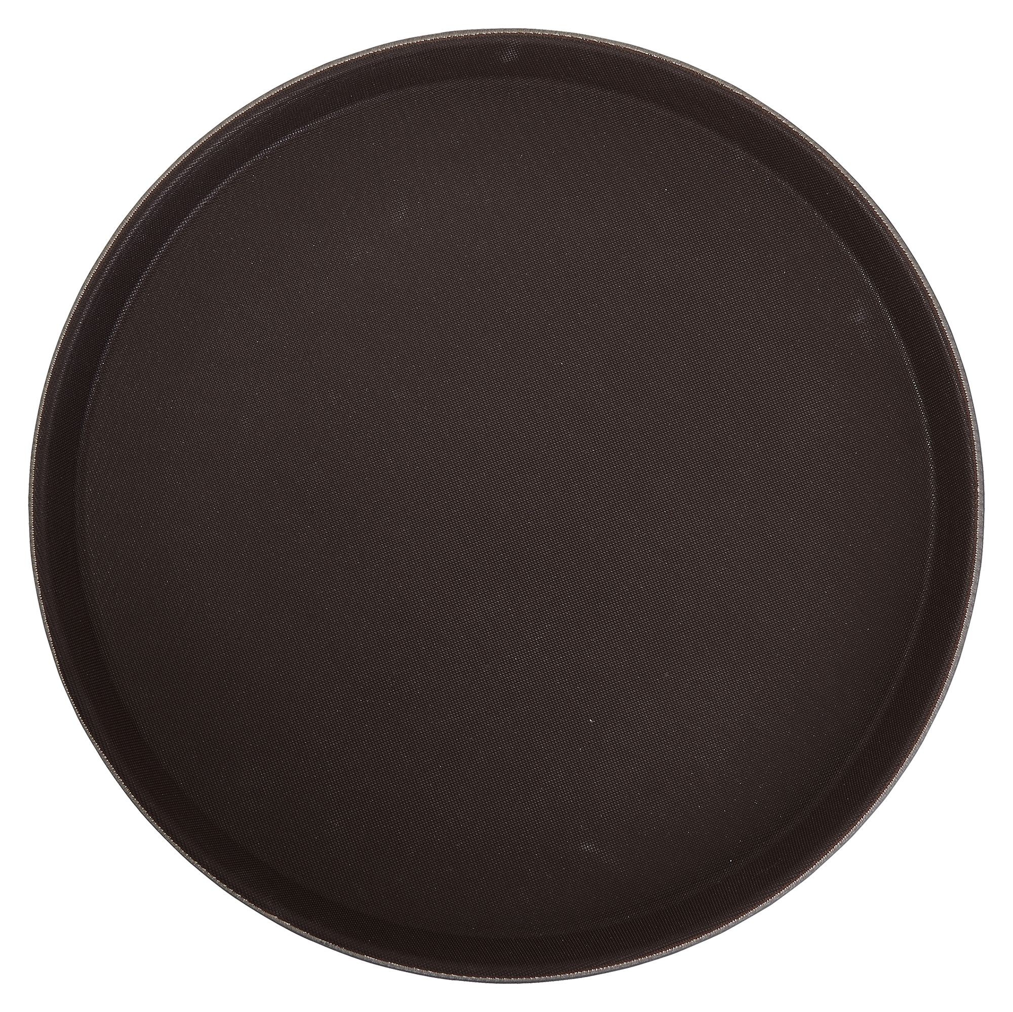 Winco TRH-11 Brown Easy Hold Round Tray 11""