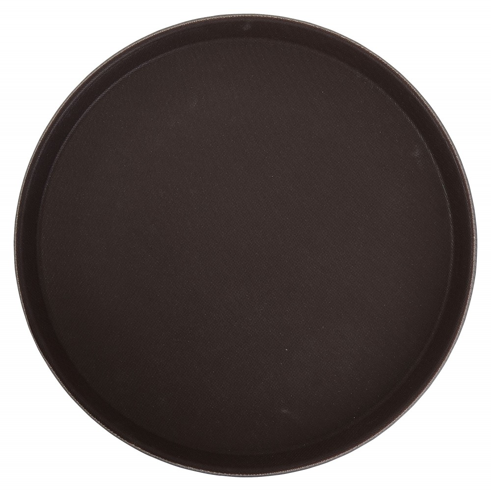 Winco trh-14 Brown Easy Hold Round Tray 14""