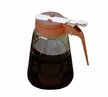 Brown Glass 8 Oz. Syrup Dispenser With ABS Top