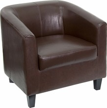 Flash Furniture BT-873-BN-GG Brown Leather Office Guest Chair/Reception Chair