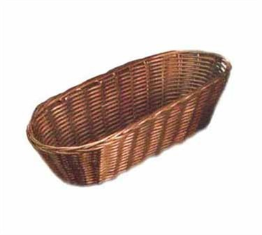 "TableCraft 1413 Brown Oblong Handwoven Basket 13"" x 5"" x 3"""