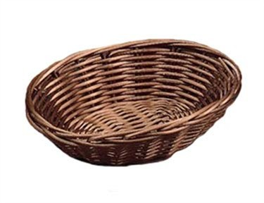 Brown Poly Cord Oval Woven Basket - 7