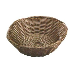 "TableCraft 1475 Brown Round Handwoven Basket 8-1/4"" x 2-1/4"""