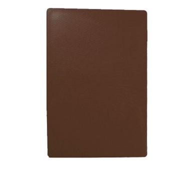 """TableCraft CB1218BRA Brown Polyethylene Cutting Board 12"""" x 18"""" x 1/2"""""""