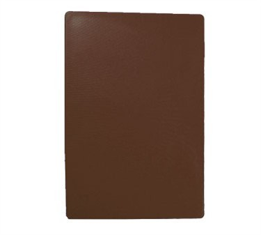 "TableCraft CB1520BRA Brown Polyethylene Cutting Board 15"" x 20"" x 1/2"""
