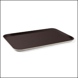 "G.E.T. Enterprises NS-1826-BR Brown Non-Skid 18"" x 26"" Rectangular Tray"