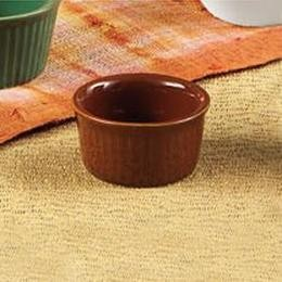 Brown Ramekin 1oz. Fluted