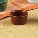 CAC China RKF-4 BWN Brown Fluted Ramekin 4 oz.