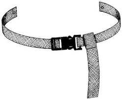 Franklin Machine Products  280-1316 Brown Safety Strap for High Chair (Model 280-1311 High Chair Sold Separately)