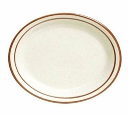 CAC China AZ-12 Arizona Narrow Rim Brown Speckled 9 1/2