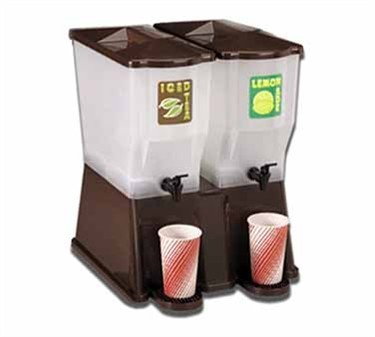 Brown Standard 2-Reservoir 3 Gal. Slimline Beverage Dispenser
