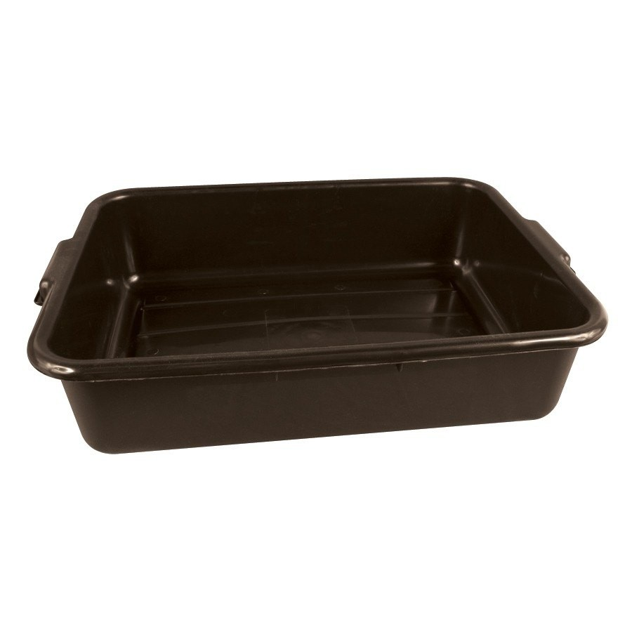 "TableCraft 1529BR Brown Tote Box 21-1/4"" x 15-3/4"" x 5"""