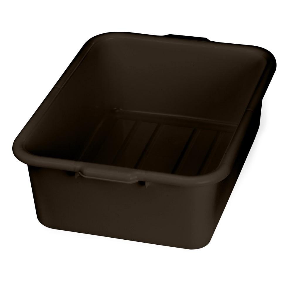 "TableCraft 1537BR Brown Tote Box 21-1/4"" x 15-3/4"" x 7"""