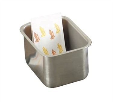 TableCraft 58BF Brushed Finish Stainless Steel Sugar Packet Holder