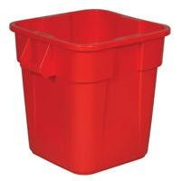 Brute� Square Container 28 gallon without lid-Red