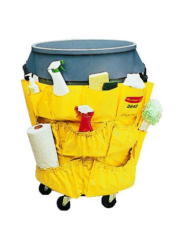 Brute Caddy Bag Fits 32/44 Gallon Round Containers, Yellow