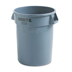 Brute Container, 32 Gallon, Gray