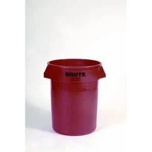 Brute Container, 32 Gallon, Red