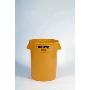 Brute Container, 32 Gallon, Yellow