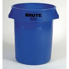Brute Vented Trash Receptacle, 44 Gallon, Gray