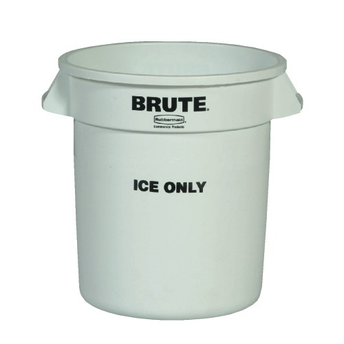 Brute Ice Only Container, 10 Gallon, White
