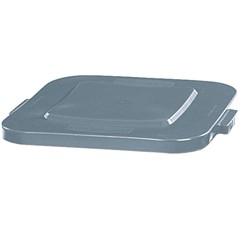 Brute Lid for 40 Gallon Square Container, Gray