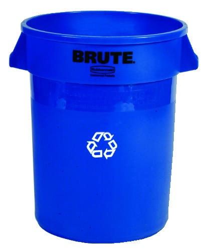 Brute Recycling Container, 32 Gallon, Blue