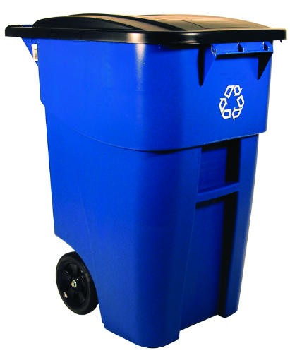 Brute Recycling Rollout Trash Container with Lid