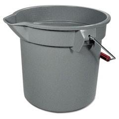 Brute Round Bucket, 14 Gallon, Wide Pour Spout, Gray