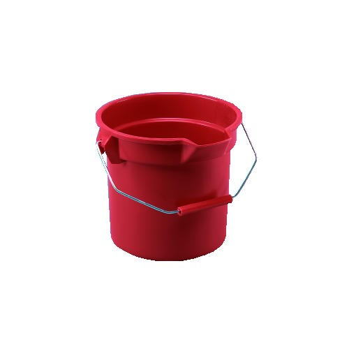 Brute Round Bucket, 14 Gallon, Wide Pour Spout, Red