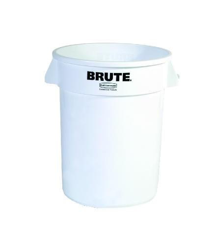 Brute Round Container, 20 Gallon, White