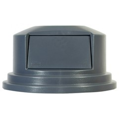 Brute Round Lid Fits 55 Gallon Containers, Gray