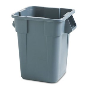 Brute Square Container, 40 Gallon, Gray