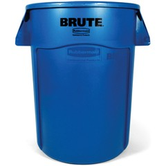 Brute Vented Trash Receptacle, 44 Gallon, Blue