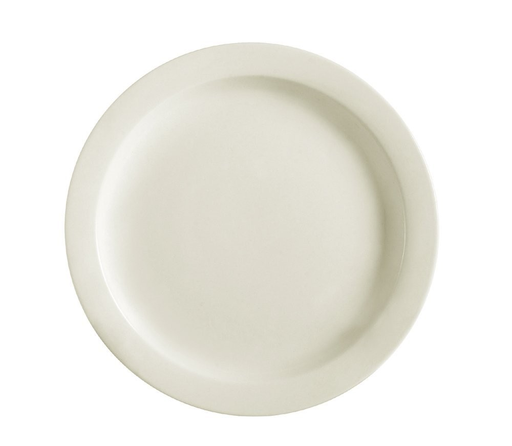 Buffet/Lunch Plate - American Ivory, Narrow Rim China (9