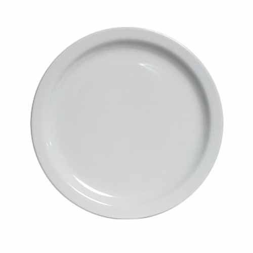Buffet/Lunch Plate - Bright White, Narrow Rim China (9