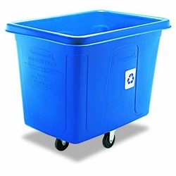 Bulk Recycling Cube Truck, 16 Cubic ft, Blue