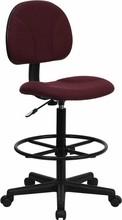 Flash Furniture BT-659-BY-GG Burgundy Fabric Ergonomic Drafting Stool