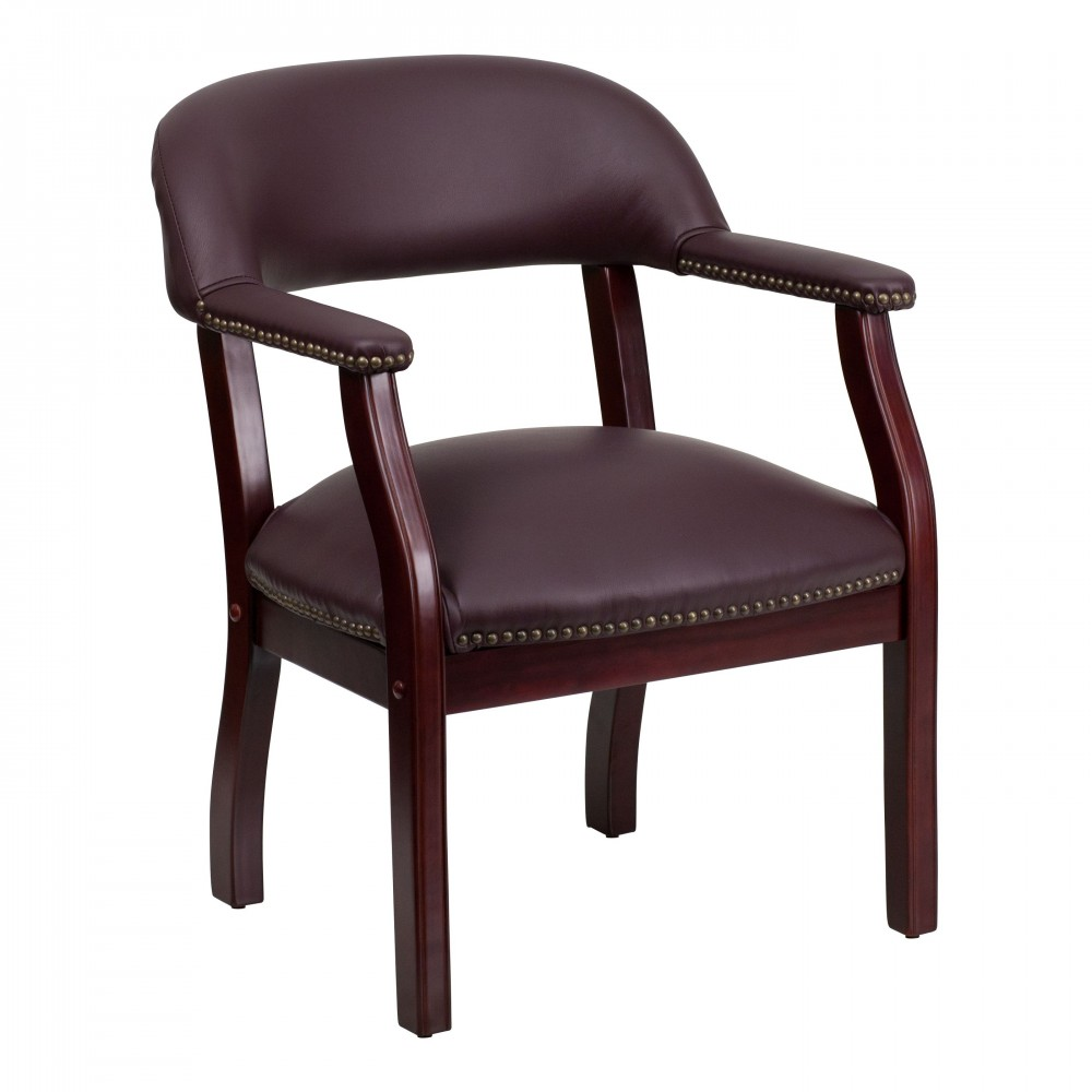 Flash Furniture B-Z105-LF19-LEA-GG Burgundy Leather Luxurious Conference Chair
