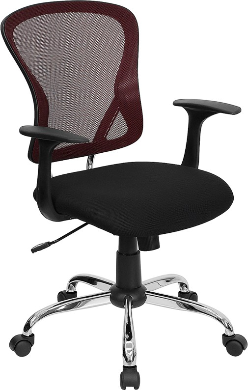 Burgundy Mesh Executive Office Chair [ H-8369F-BG-GG ]