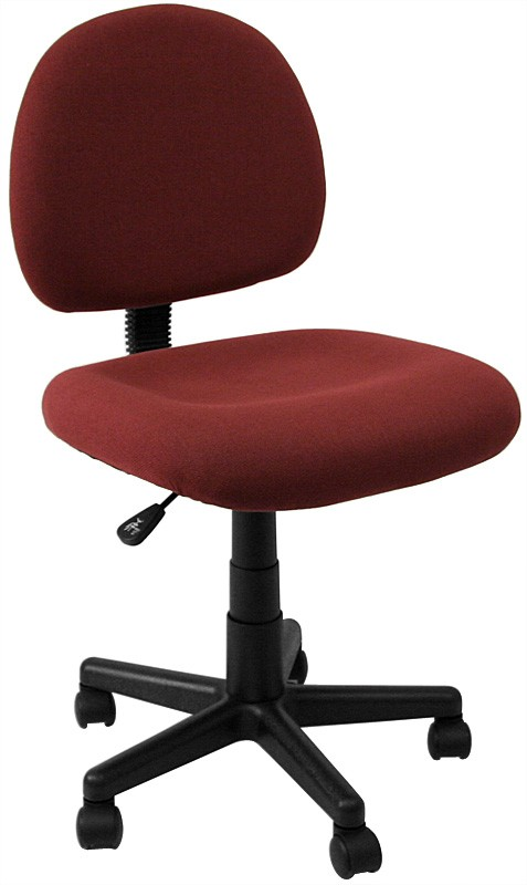 Flash Furniture BT-660-BY-GG Burgundy Mid Back Ergonomic Task Chair with Adjustable Arms