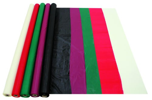 Burgundy Plastic Tablecover Roll