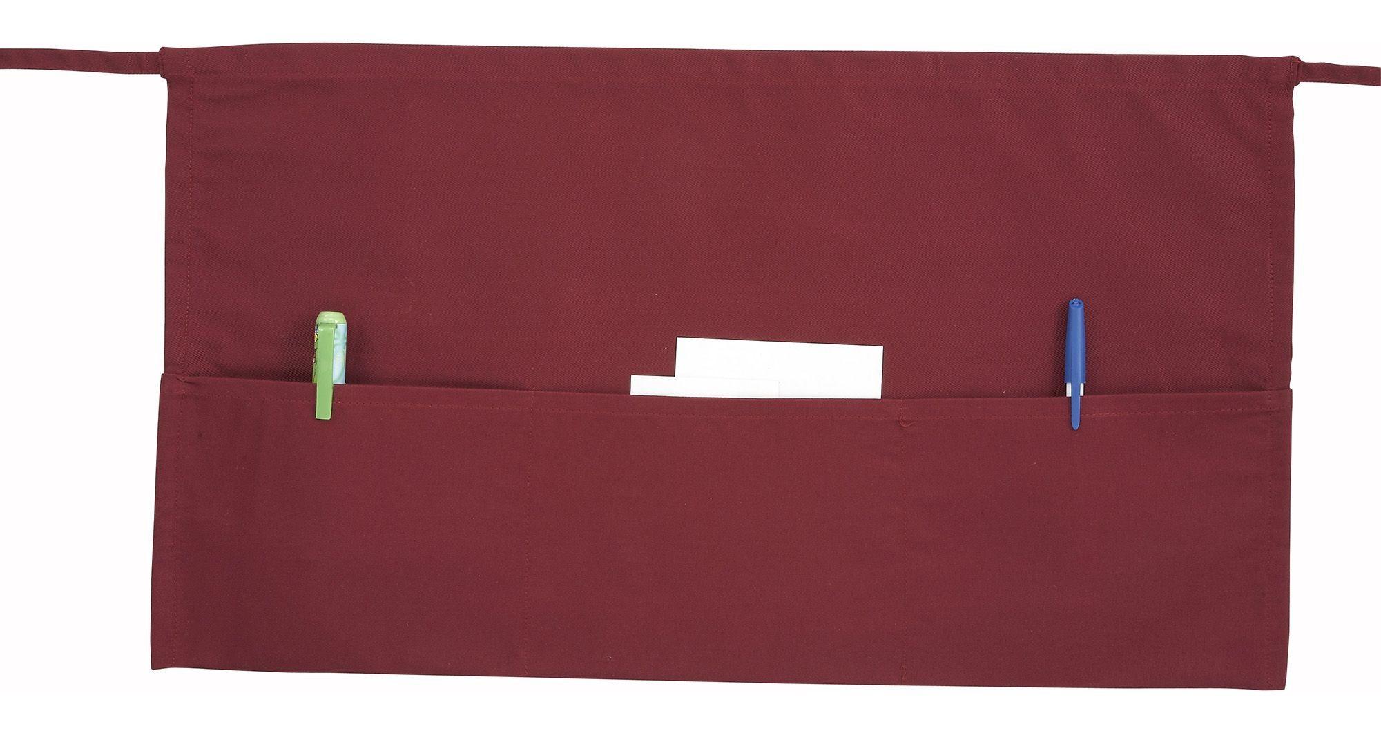 Burgundy Poly/Cotton Waist Apron - 22 X 12