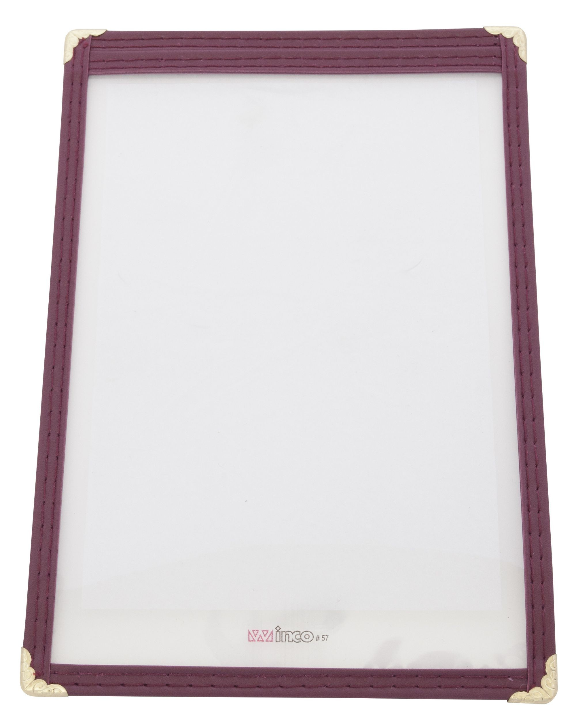 "Winco PMC-5U Burgundy Single Menu Cover, 6-3/8"" x 9-3/8"""