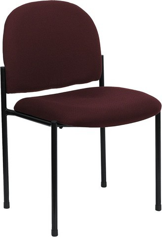 Burgundy Steel Stacking Chair