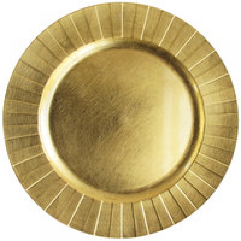 Burst Charger Plate Gold 13